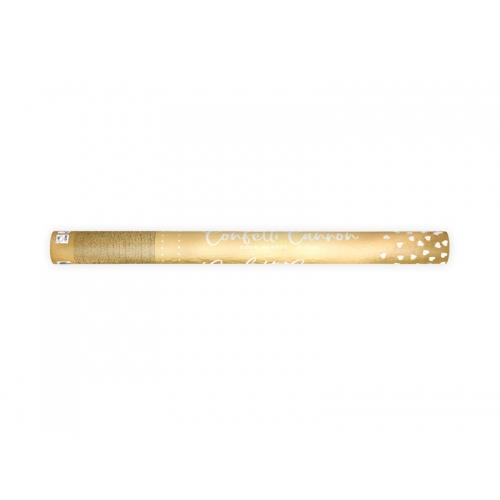 Strzelająca tuba - serca, złote
