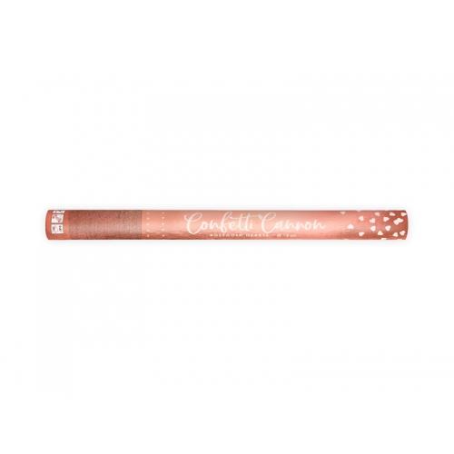 Strzelająca tuba - serca, różowe złoto