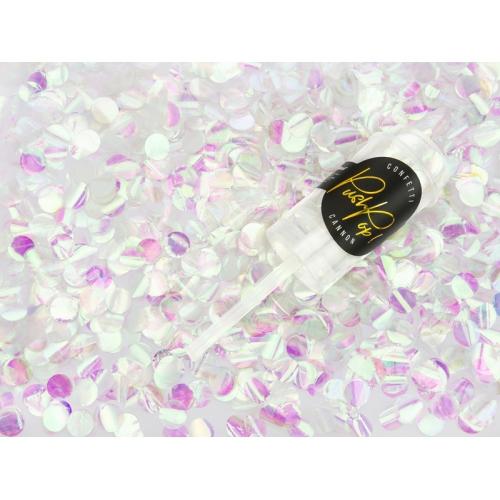 Push pop konfetti, opalizujący