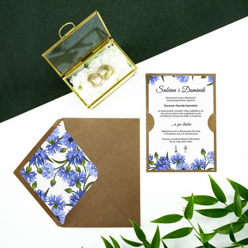 Zaproszenie ślubne - Chabry