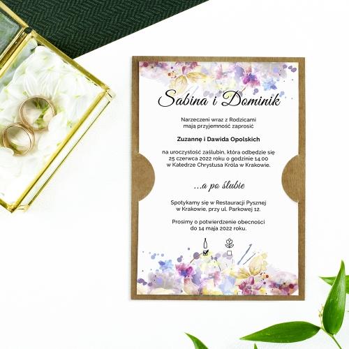 Zaproszenie ślubne - Pastele