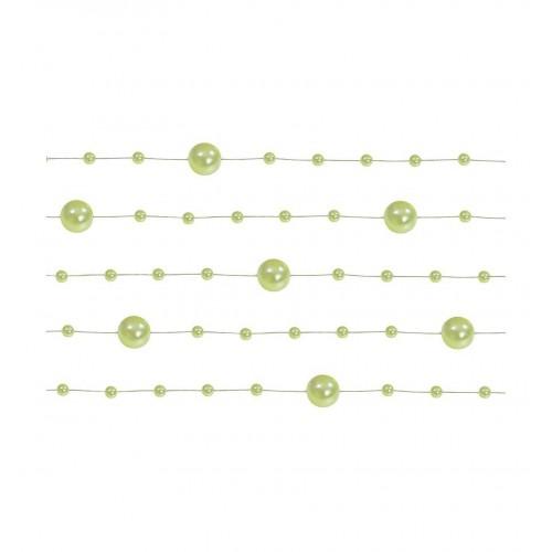 Girlanda perłowa - jasnozielony (5 sztuk)
