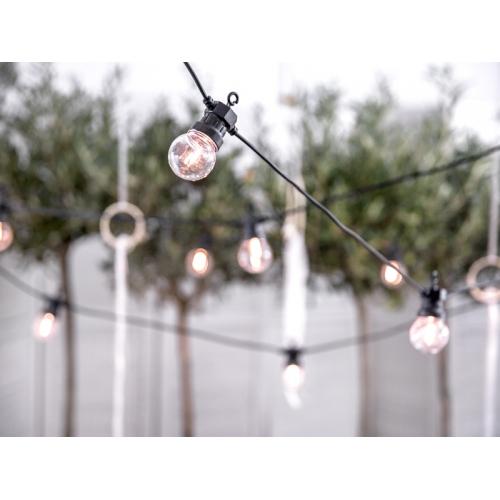 Lampki dekoracyjne led - czarne - 5 metrów