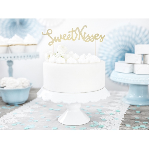 Topper na tort - Sweet Kisses - 1 sztuka