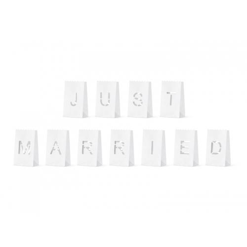 Lampiony - Just Married - 11 sztuk