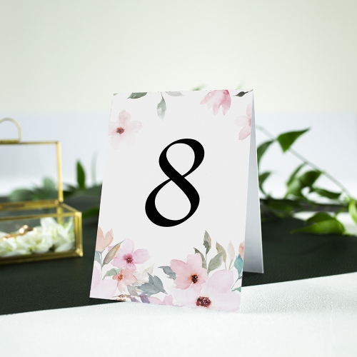 Numer stolika - Delikatne róże