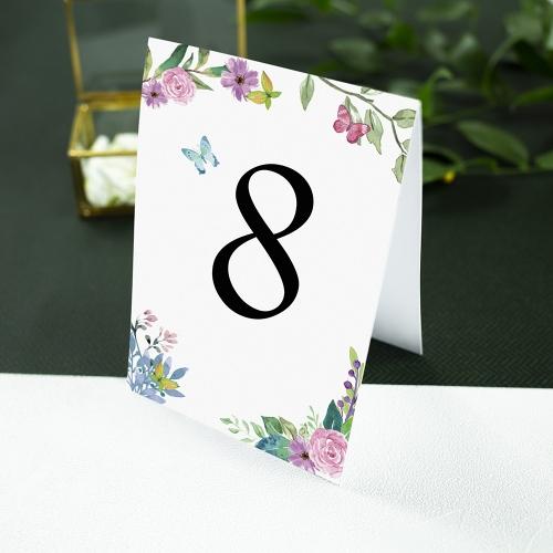Numer stolika - Wiosenne kwiaty