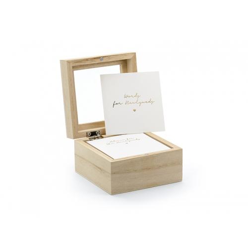 Księga gości - pudełko na porady - angielska wersja