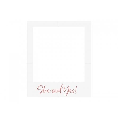 Ramka selfie - różowe złoto - 1 sztuka