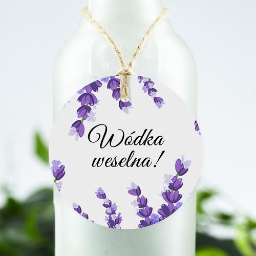 Okrągła ozdoba alkoholu - Lawenda