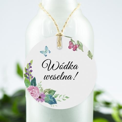 Okrągła ozdoba alkoholu - Wiosenne kwiaty
