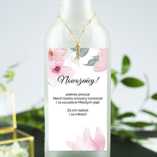 Ozdoba alkoholu - Delikatne róże
