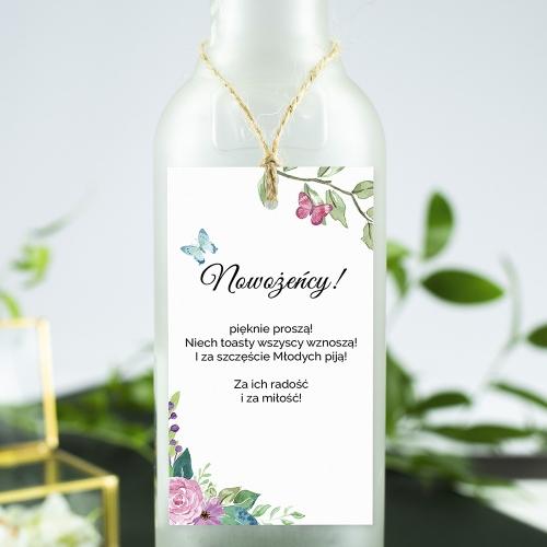 Ozdoba alkoholu - Wiosenne kwiaty