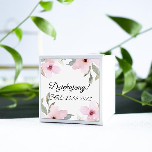 Pudełeczka dla gości - białe - Delikatne róże (10 sztuk)