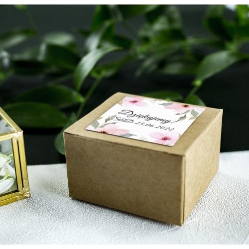 Pudełeczka dla gości - Eko - Delikatne róże (10 sztuk)