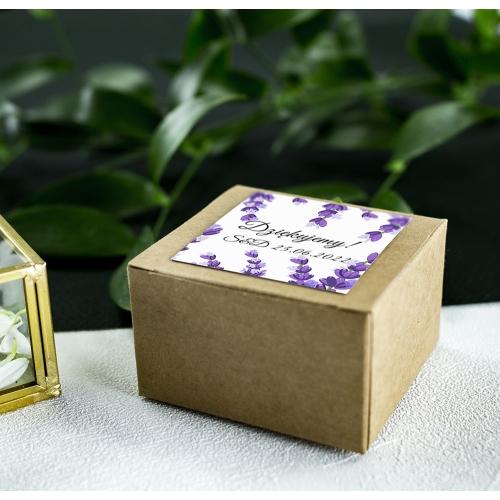 Pudełeczka dla gości - Eko - Lawenda (10 sztuk)
