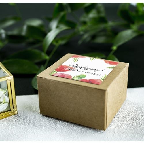 Pudełeczka dla gości - Eko - Czerwone maki (10 sztuk)