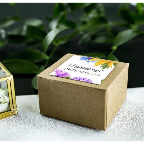 Pudełeczka dla gości - Eko - Słoneczniki (10 sztuk)
