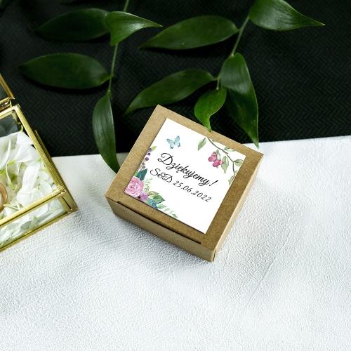 Pudełeczka dla gości - EKO - Wiosenne kwiaty (10 sztuk)