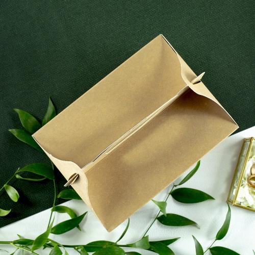 Duże pudełko na ciasto z papieru czerpanego - Wiosenne kwiaty