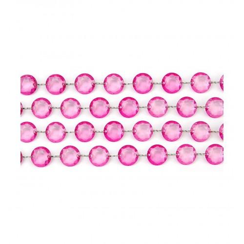 Girlanda kryształowa - różowa