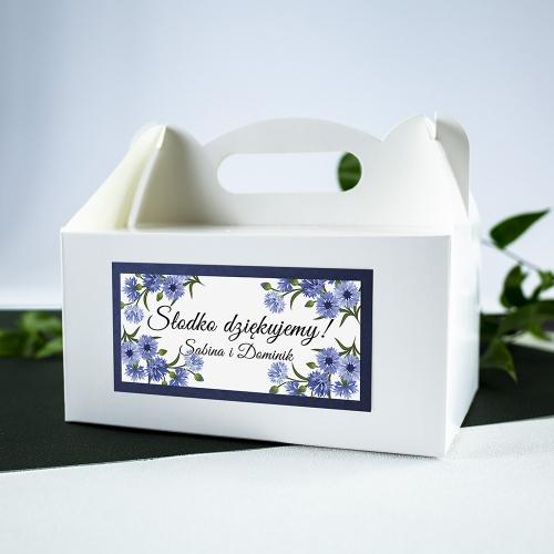 Duże pudełko na ciasto - białe - Chabry