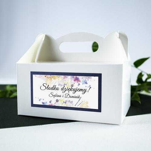 Duże pudełko na ciasto - białe - Pastele