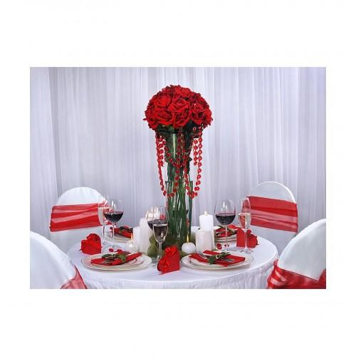 Girlanda kryształowa - czerwona