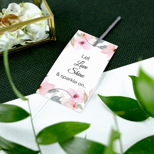 Etykieta na zimne ognie - Delikatne róże
