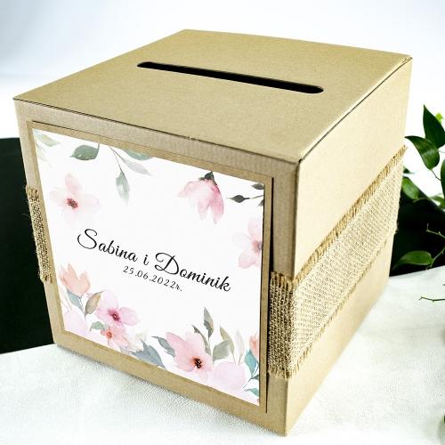 Pudełko na koperty - Delikatne róże
