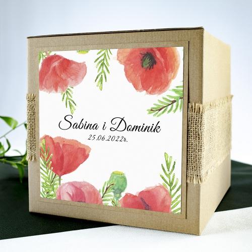Pudełko na koperty - Czerwone maki