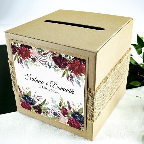 Pudełko na koperty - EKO - Piwonie
