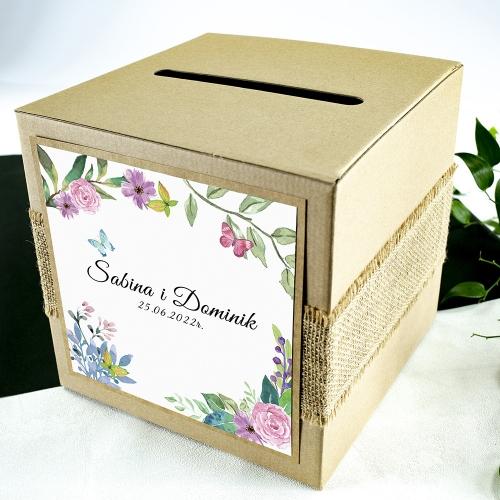 Pudełko na koperty - EKO - Wiosenne kwiaty