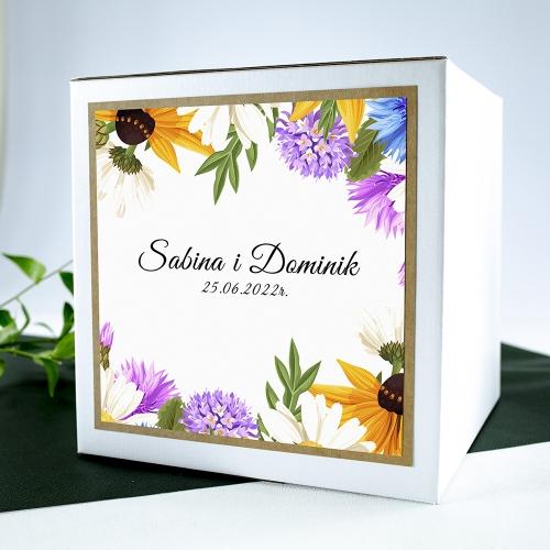 Pudełko na koperty - Słoneczniki