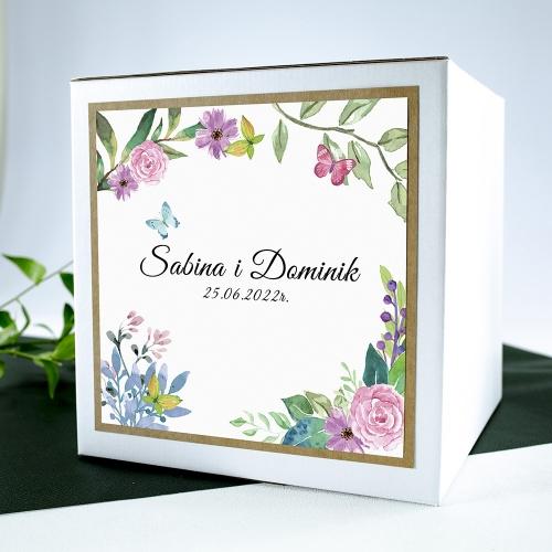 Pudełko na koperty - Wiosenne kwiaty