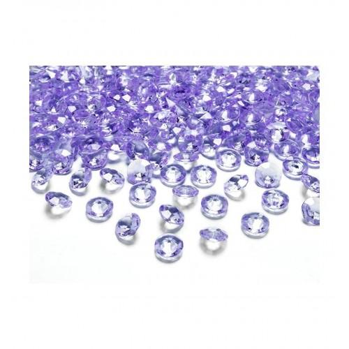 Diamentowe konfetti - liliowe (100 sztuk)