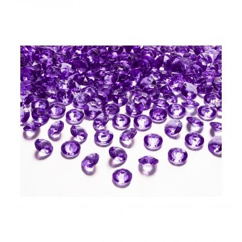 Diamentowe konfetti - śliwkowe (100 sztuk)