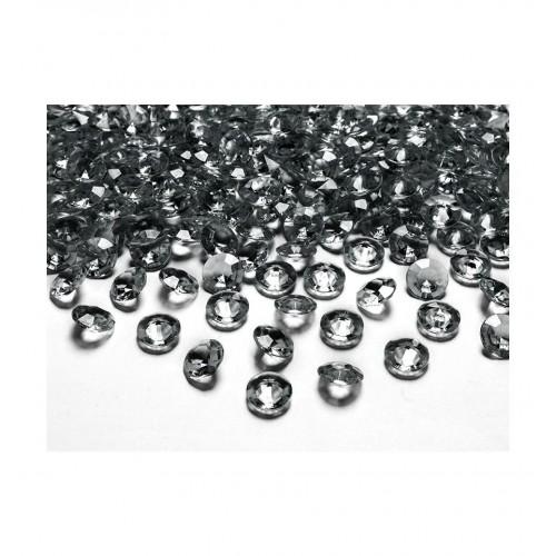 Diamentowe konfetti - szare (100 sztuk)