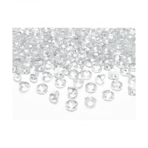 Diamentowe konfetti - bezbarwne (100 sztuk)