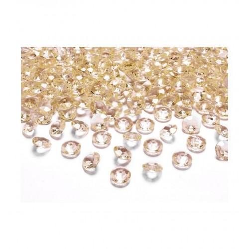 Diamentowe konfetti - złote (100 sztuk)