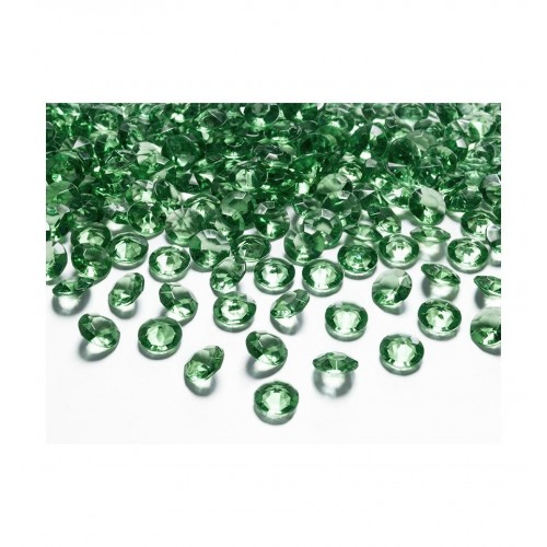 Diamentowe konfetti - zielone (100 sztuk)