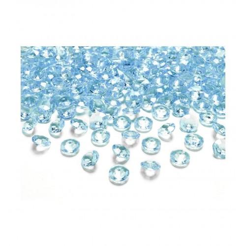 Diamentowe konfetti - turkusowe (100 sztuk)