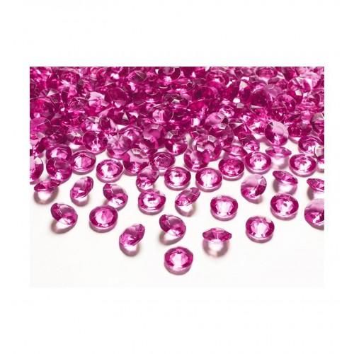 Diamentowe konfetti - ciemnoróżowe (100 sztuk)