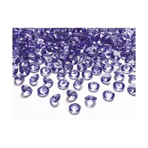Diamentowe konfetti - fioletowe (100 sztuk)