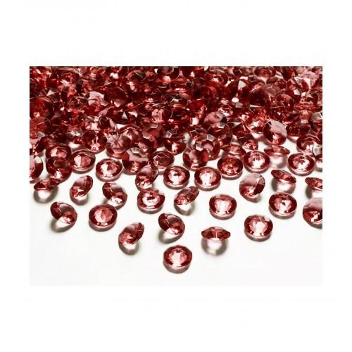 Diamentowe konfetti - bordowe (100 sztuk)