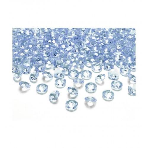 Diamentowe konfetti - błękitne (100 sztuk)