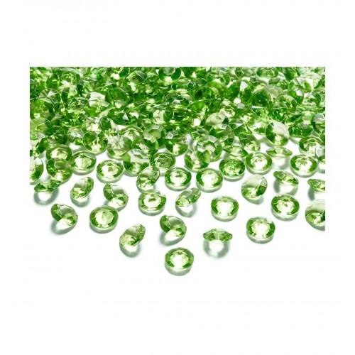 Diamentowe konfetti - jasnozielone (100 sztuk)