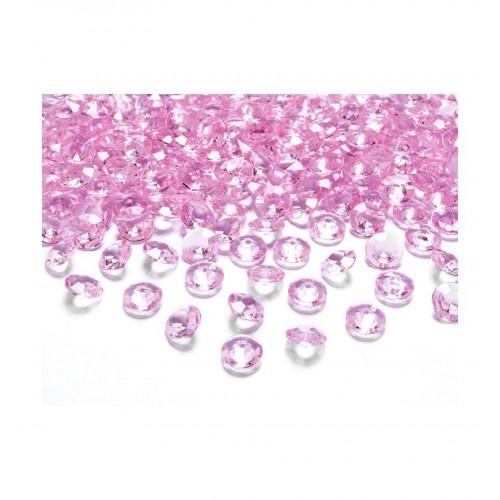 Diamentowe konfetti - jasnoróżowe (100 sztuk)
