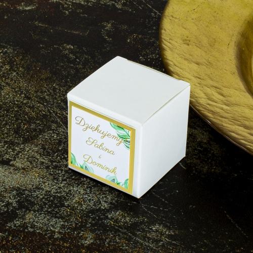 Pudełeczka dla gości - Pawie oczko (10 sztuk)