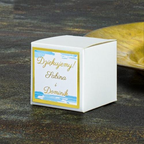 Pudełeczka dla gości - Dostojne łabędzie (10 sztuk)